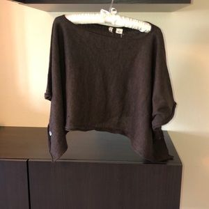 Brown short sleeve sweater top - Brand new